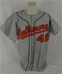 "Baltimore Orioles 2001 ""*61"" Flannel Jersey Screen-Worn by ""Jack Fisher"" In Pivotal 60th HR Scene"