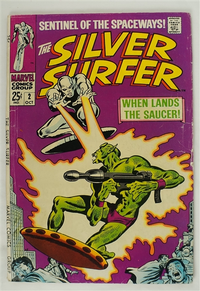 Silver Surfer October 1968 Marvel Comic Book Issue #2