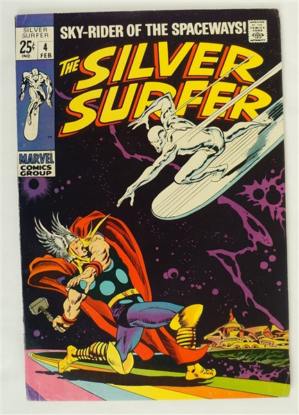Silver Surfer February 1969 Marvel Comic Book Issue #4