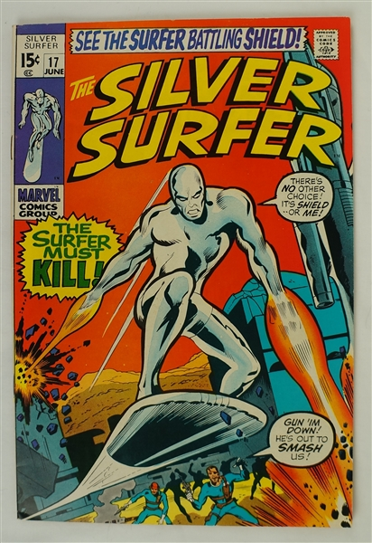 Silver Surfer June 1970 Marvel Comic Book Issue #17