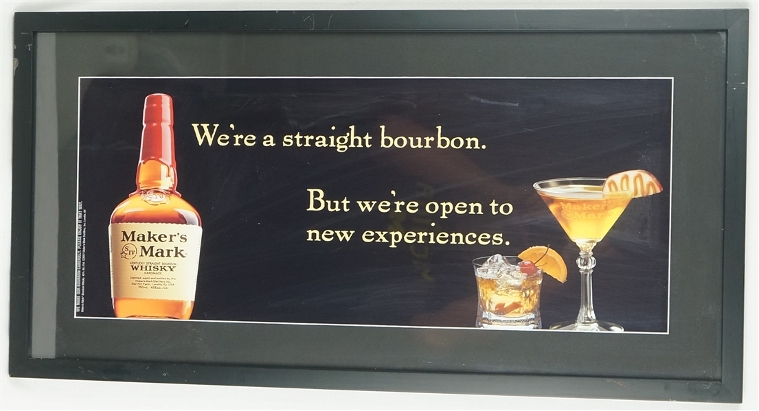 Makers Mark Advertising Display