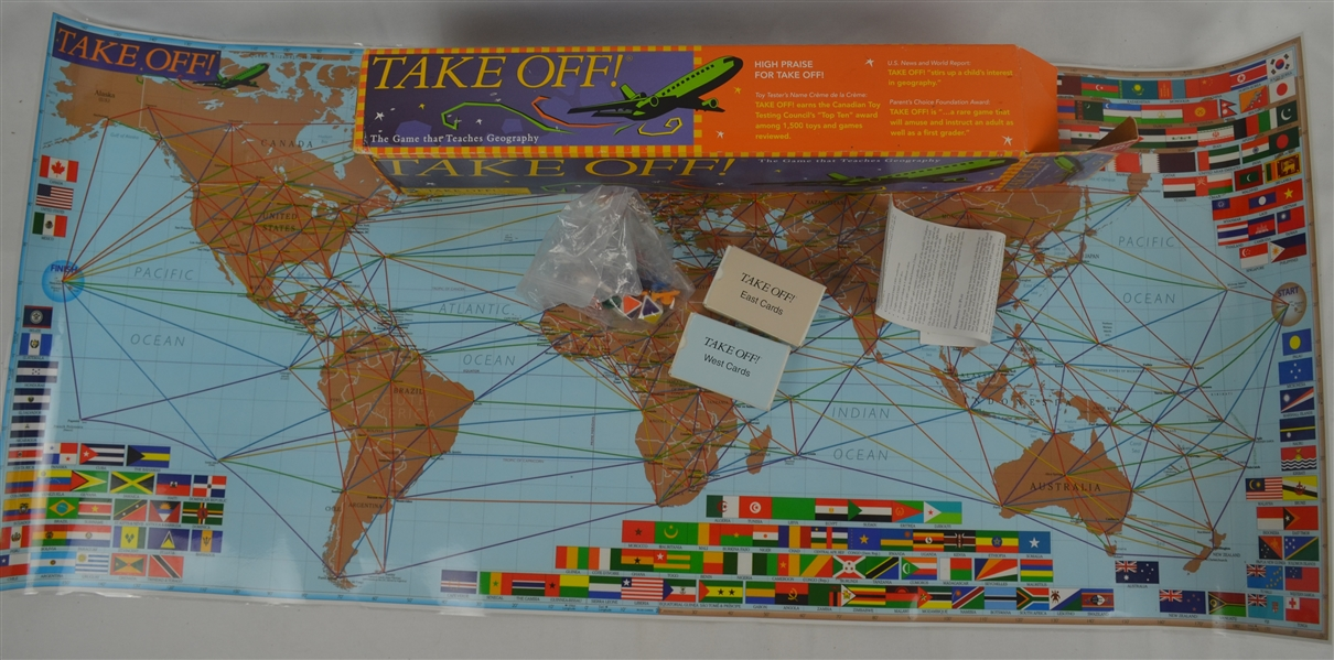 Vintage Take Off Geography Game