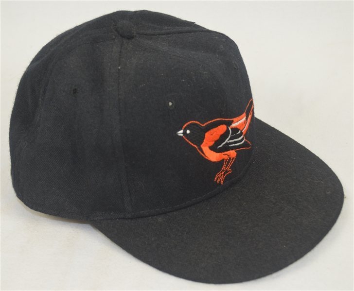 Cal Ripken Jr. c. 1990-91 Baltimore Orioles Professional Model Hat w/Heavy Use