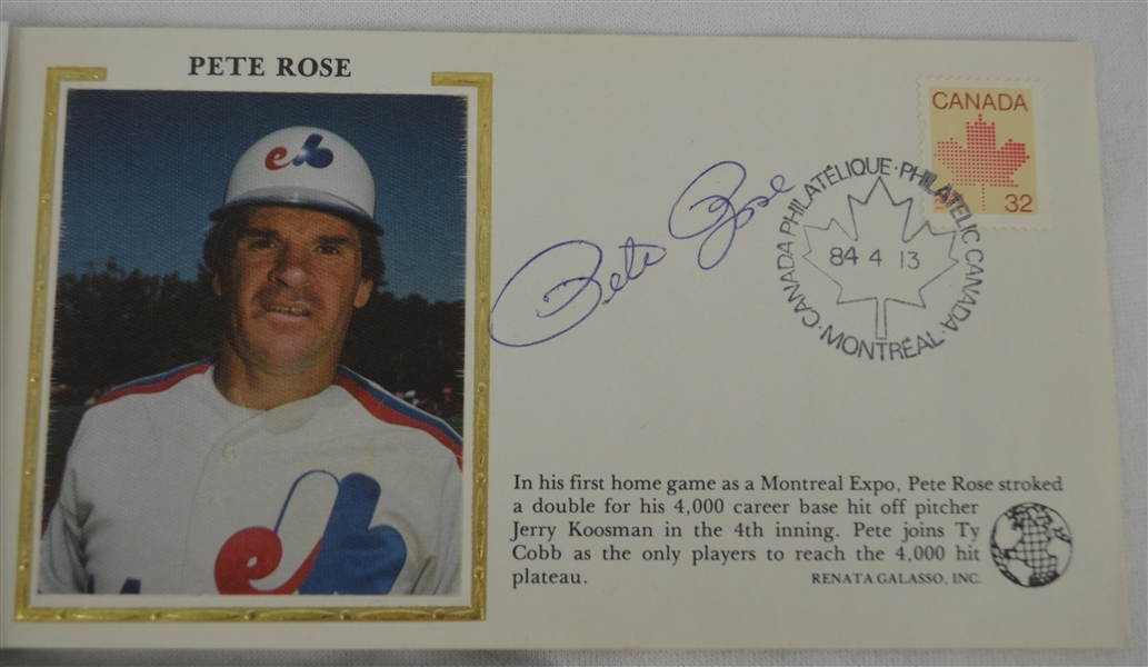 Autographed Card Collection w/Pete Rose FDC