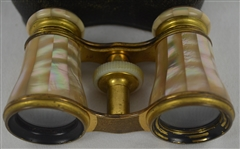 Vintage Mother of Pearl Binoculars w/Case
