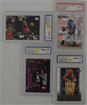Collection of 4 Graded Cards w/Kobe Bryant & LeBron James