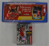 Michael Jordan Lot of 2 Basketball Card Box Sets