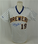 Robin Yount 1989 Milwaukee Brewers Professional Model Jersey w/Medium Use MEARS LOA