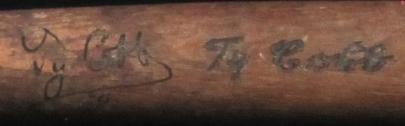 Stunning Ty Cobb Autographed Louisville Slugger Mini Bat Display PSA/DNA & JSA LOA
