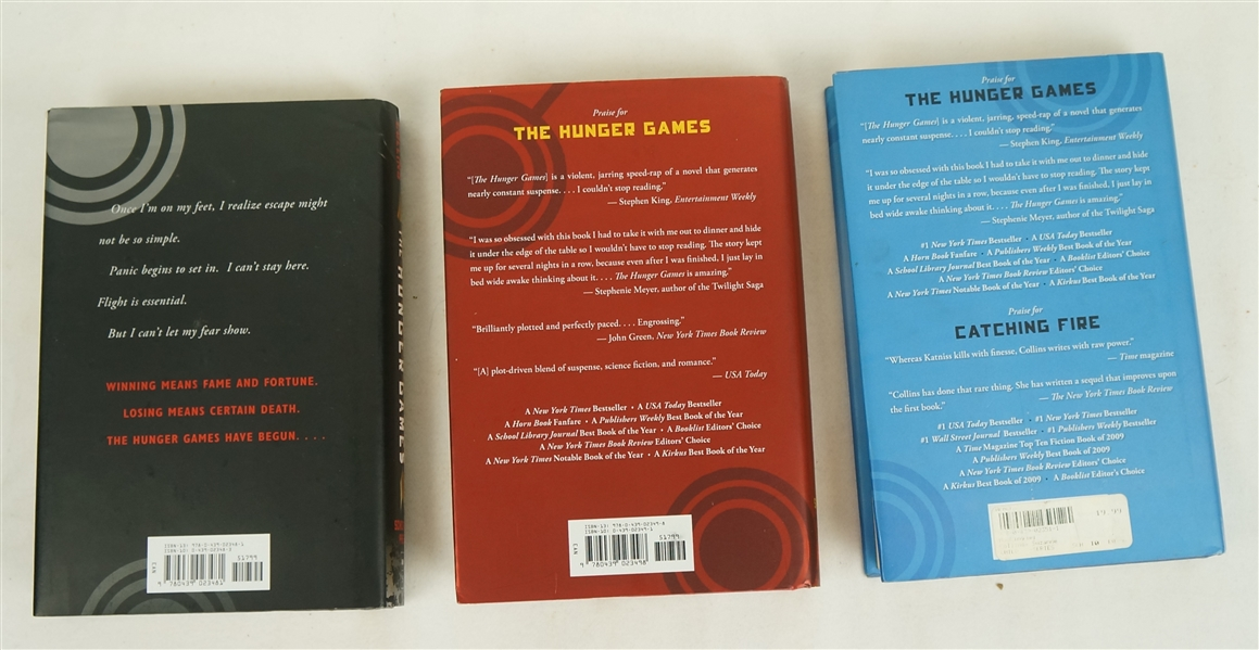 Hunger Games Collection Trilogy of Hard Cover Books