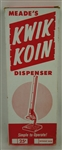 Vintage Kwik Koin Dispenser w/Original Box