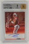 Russell Wilson 2012 Fleer Retro Autographics Signed Rookie Card BGS 9 & 10 Auto