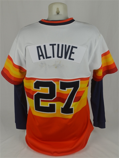 Jose Altuve 2012 Houston Astros Game Used Jersey w/Dave Miedema LOA