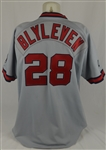 Bert Blyleven 1992 California Angels Game Used Jersey w/Dave Miedema LOA