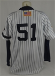 Bernie Williams 2001 World Series New York Yankees Game Used Jersey w/Dave Miedema LOA