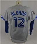 Roberto Alomar 1993 World Series Toronto Blue Jays Game Used Jersey w/Dave Miedema LOA