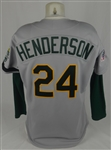 Rickey Henderson 1989 World Series Oakland As Game Used Jersey w/Dave Miedema LOA