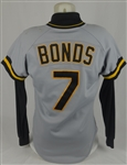 Barry Bonds 1986 Pittsburgh Pirates Game Used Rookie #7 Jersey w/Dave Miedema LOA