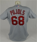 Albert Pujols 2001 St. Louis Cardinals Game Used Rookie #68 Jersey w/Dave Miedema LOA