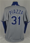 Mike Piazza 1997 Los Angeles Dodgers Game Used Jersey w/Dave Miedema LOA