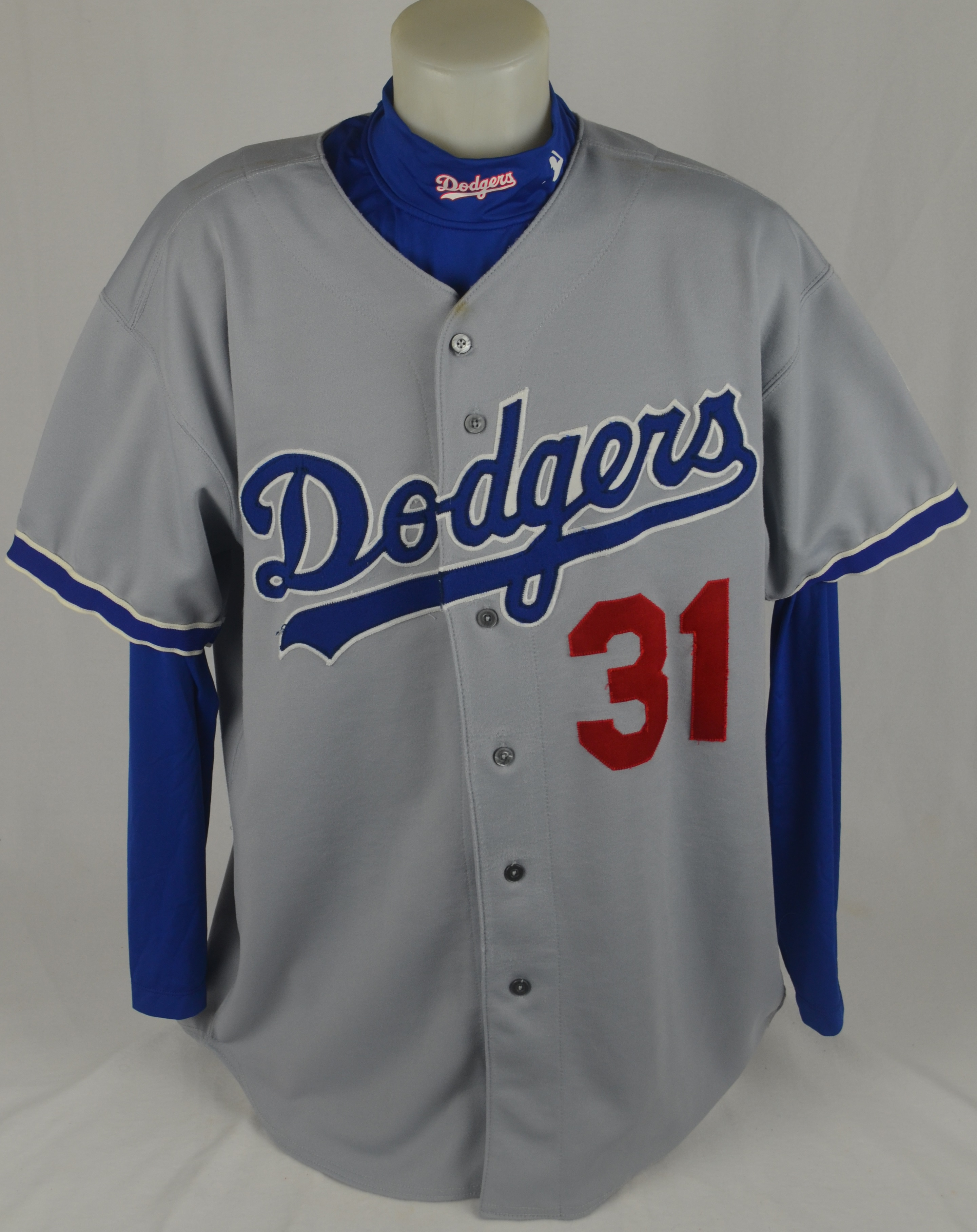 more photos ab658 ff74e Lot Detail - Mike Piazza 1997 Los Angeles Dodgers Game Used ...