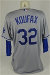 Sandy Koufax 2015 Los Angeles Dodgers Game Used Jersey w/Dave Miedema LOA