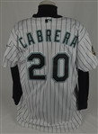 Miguel Cabrera 2003 World Series Florida Marlins Rookie Game Used Jersey w/Dave Miedema LOA