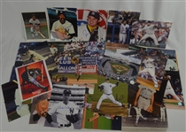 Lot of 36 Autographed New York Yankee Greats Photos