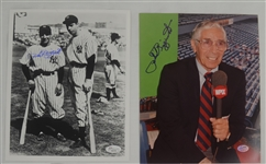 Phil Rizzuto Lot of 2 Autographed 8x10 Photos