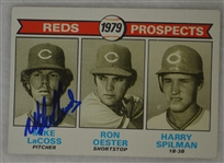Mike Lacoss Cincinnati Reds Autographed 1979 Topps Rookie Card