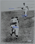 Don Larsen & Andy Carey Autographed & Inscribed 8x10 World Series Photo