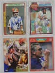 Lot of 4 Hall of Fame & NFL Fan Favorite Autographed Football Trading Cards