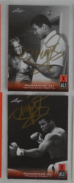 Manny Pacquiao Lot of 12 Autographed Trading Cards