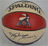 Julius Erving Autographed Spaulding Replica ABA Style Basketball