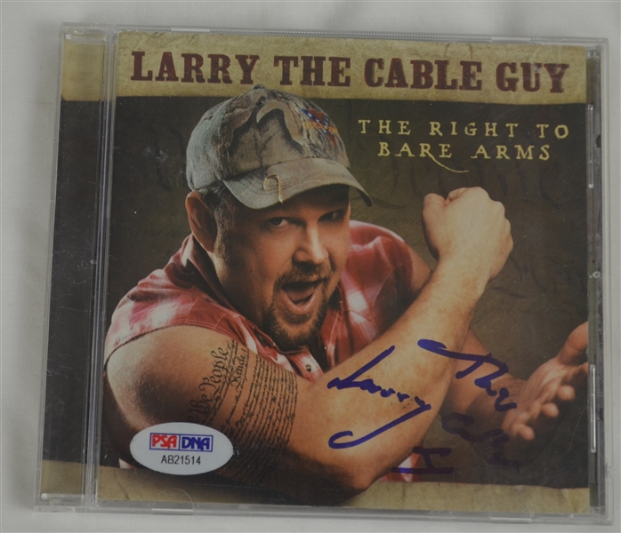 Larry The Cable Guy Autographed 'The Right To Bear Arms' LP CD