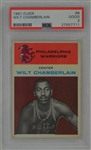 Wilt Chamberlain 1961 Fleer #8 Rookie Card PSA 2 Good