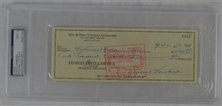 Vince Lombardi Signed Personal Check #2336 PSA/DNA 9 Mint