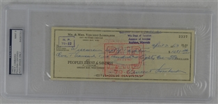 Vince Lombardi Signed Personal Check #2337 PSA/DNA 9 Mint