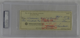 Vince Lombardi Signed Personal Check #5097 PSA/DNA 9 Mint