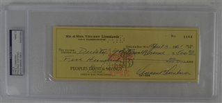 Vince Lombardi Signed Personal Check #1164 PSA/DNA 9 Mint