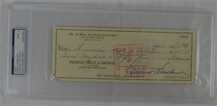 Vince Lombardi Signed Personal Check #2961 PSA/DNA 9 Mint