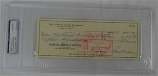 Vince Lombardi Signed Personal Check #1729 PSA/DNA 10 Gem Mint
