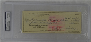 Vince Lombardi Signed Personal Check #3329 PSA/DNA Authentic