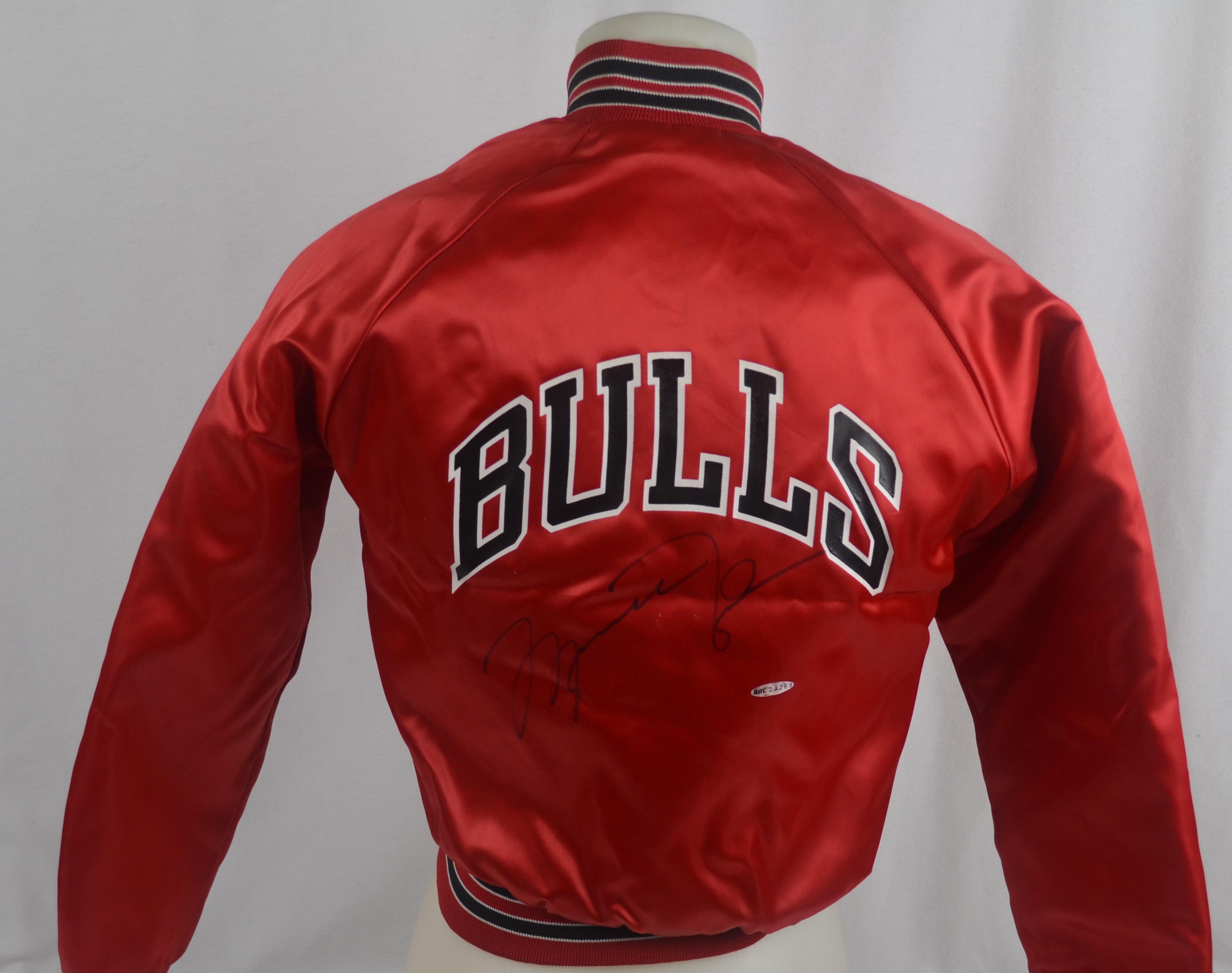 c7330f3e5a7 Lot Detail - Michael Jordan Autographed Chicago Bulls Jacket UDA