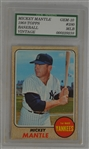 Mickey Mantle 1968 Topps #280 Gem Mint 10