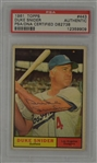 Duke Snider Autographed 1961 Topps Card #443 PSA/DNA