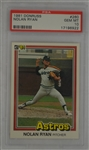 Nolan Ryan 1981 Donruss Card #260 PSA 10 Gem Mint