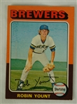 Robin Yount 1975 Topps Rookie Card
