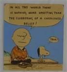 Charles Schulz Vintage Charlie Brown & Snoopy Unsigned Peanuts Drawing