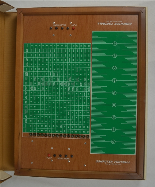 Vintage 1968 Computer Football Game by Southeast